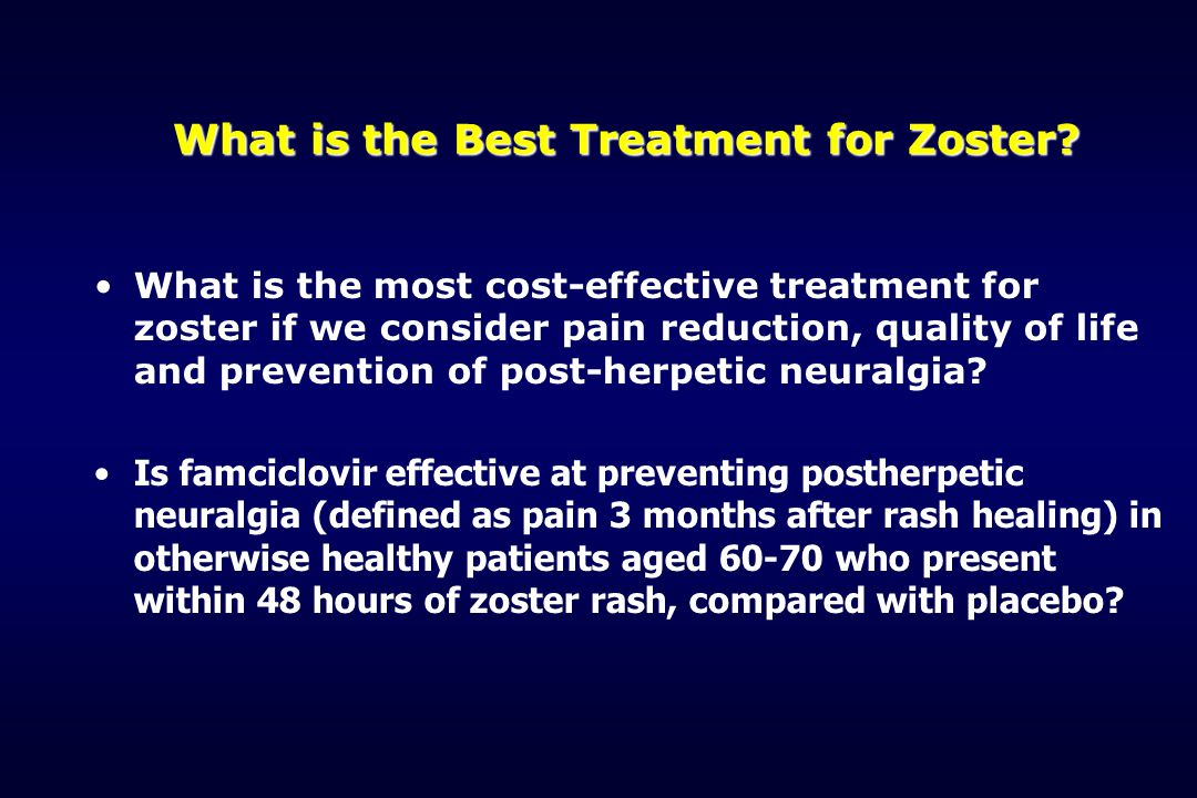 What is the Best Treatment for Zoster