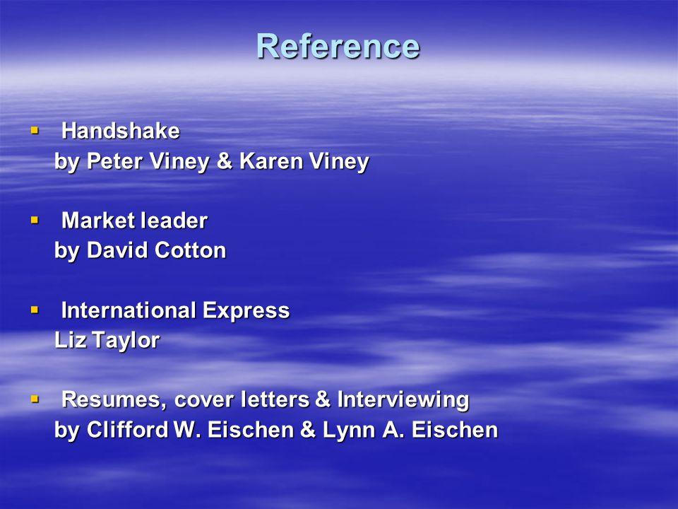 Reference Handshake by Peter Viney & Karen Viney Market leader