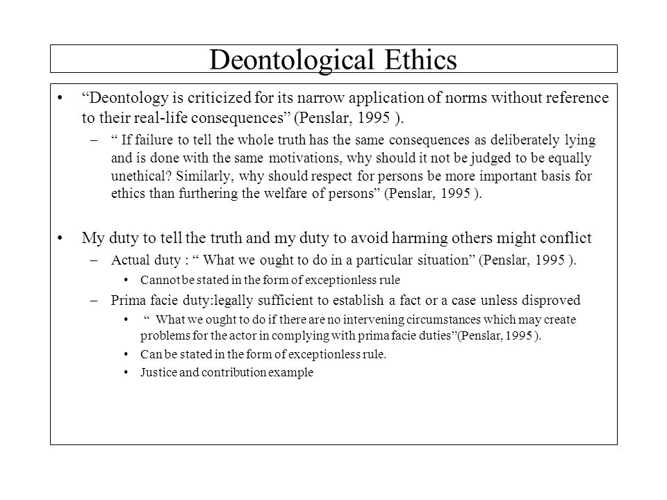 deontological ethics 6 essay Free essay: exploration of deontological ethics deontological ethics is  concerned not with the  essay on ethics and space exploration 1431 words | 6  pages.