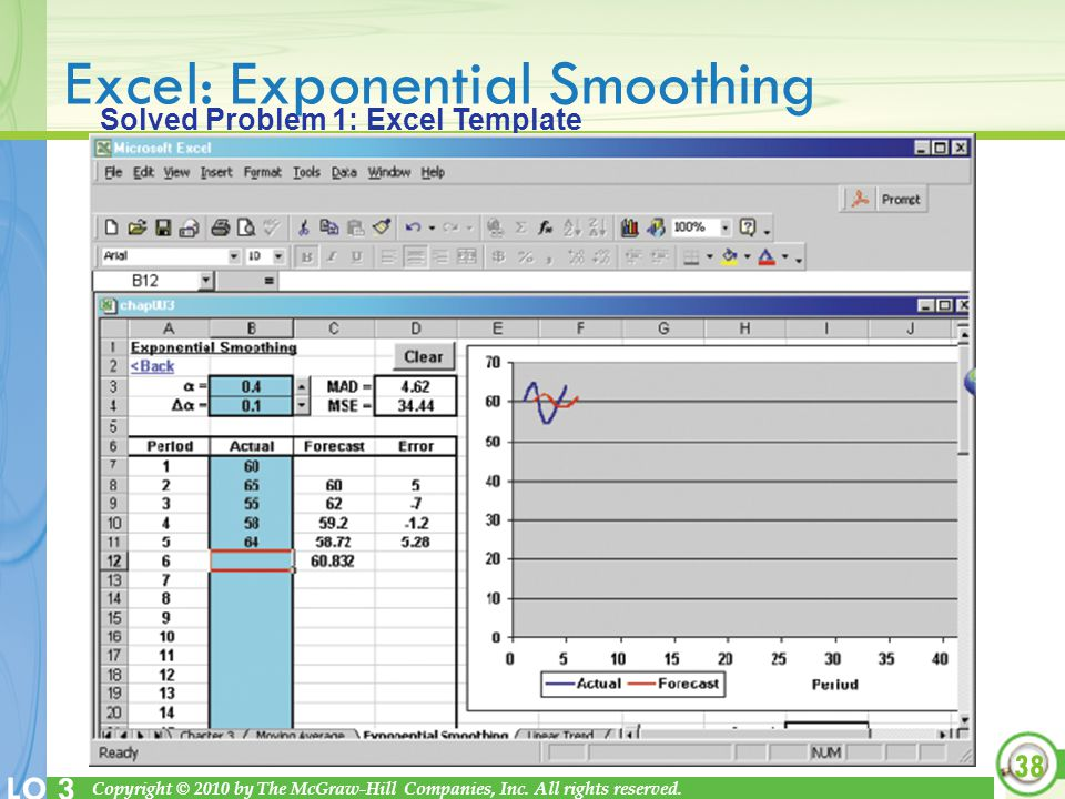 Excel: Exponential Smoothing