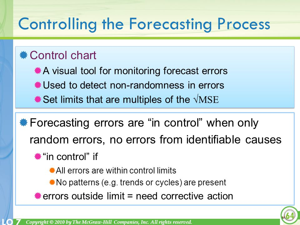 Controlling the Forecasting Process