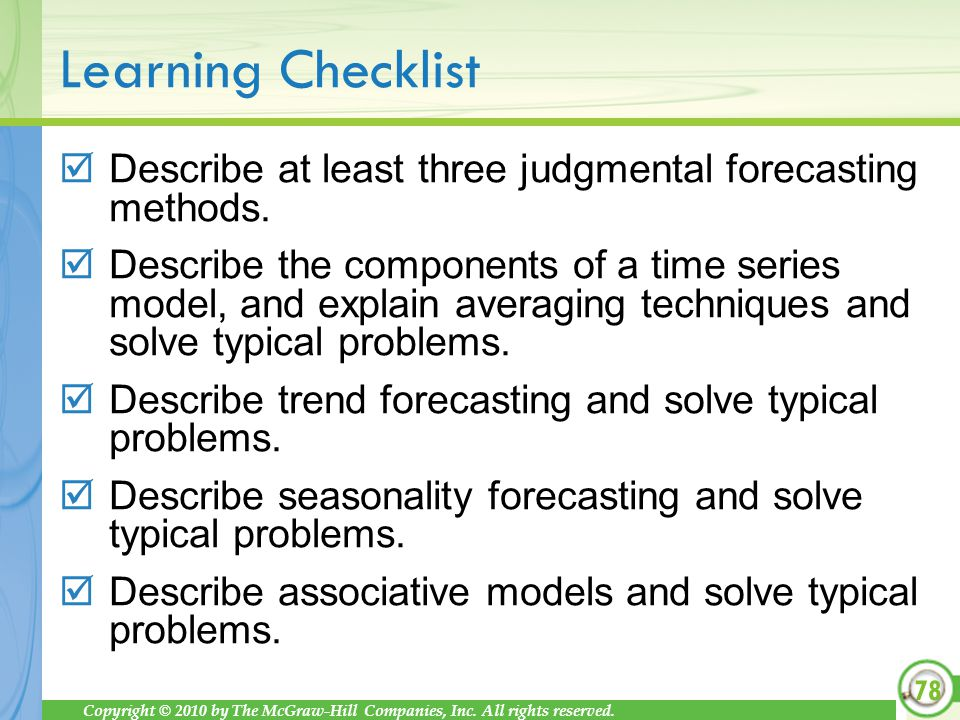 Describe at least three judgmental forecasting methods.
