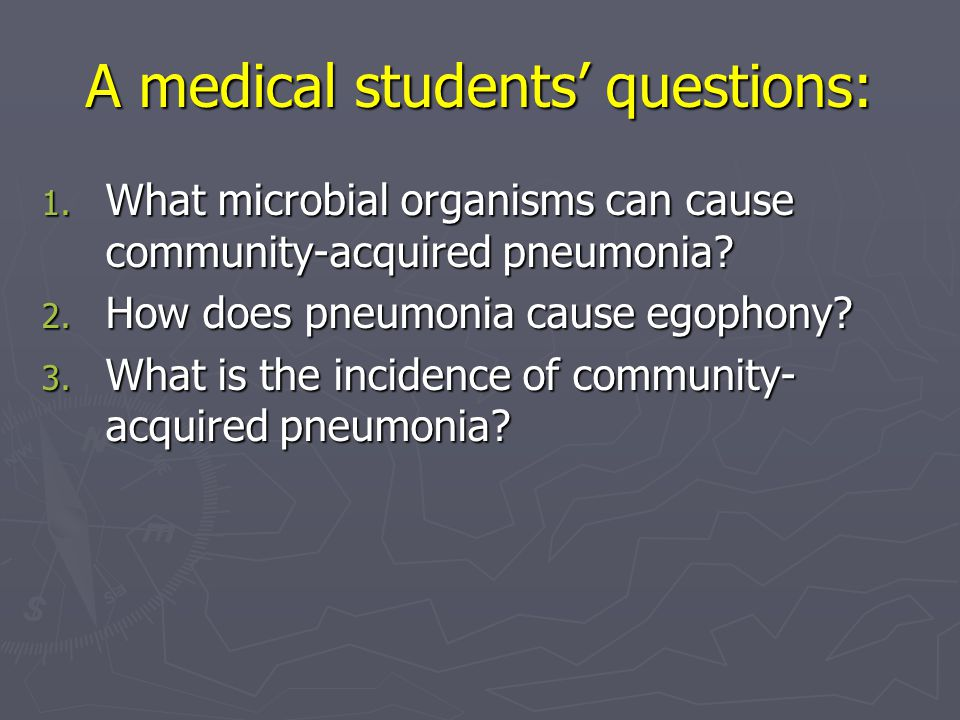 A medical students' questions: