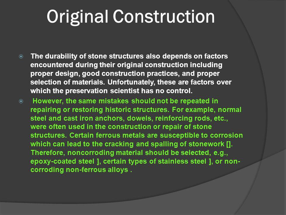 Original Construction