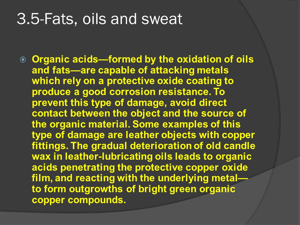 3.5-Fats, oils and sweat