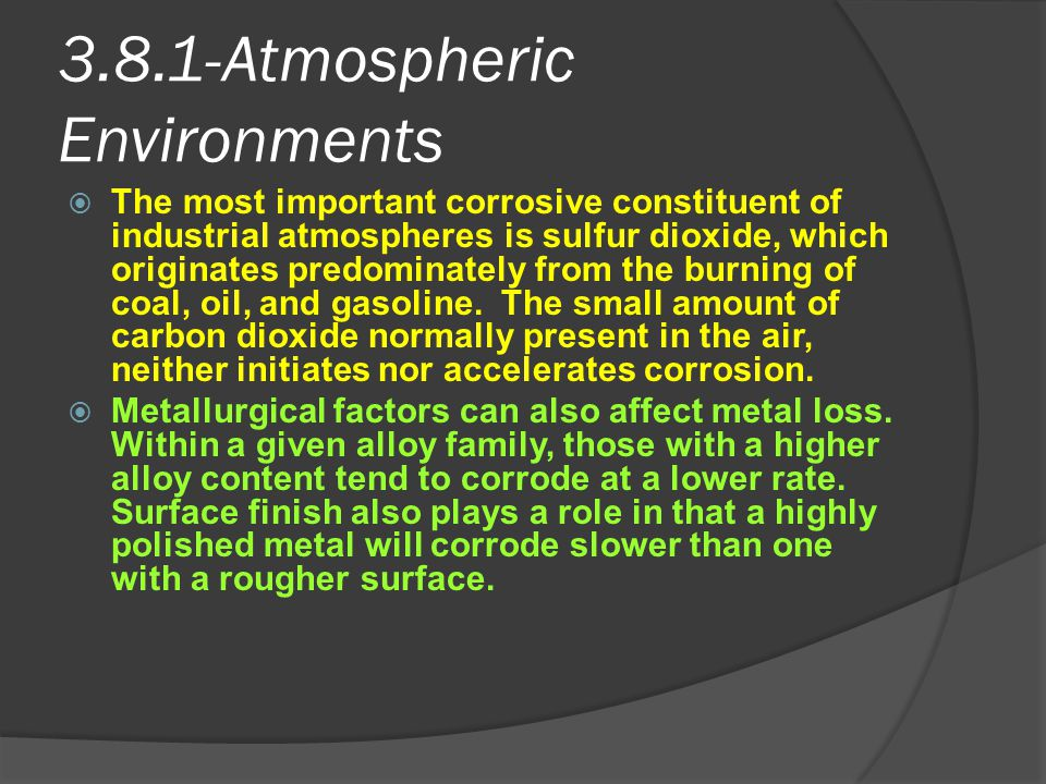 3.8.1-Atmospheric Environments