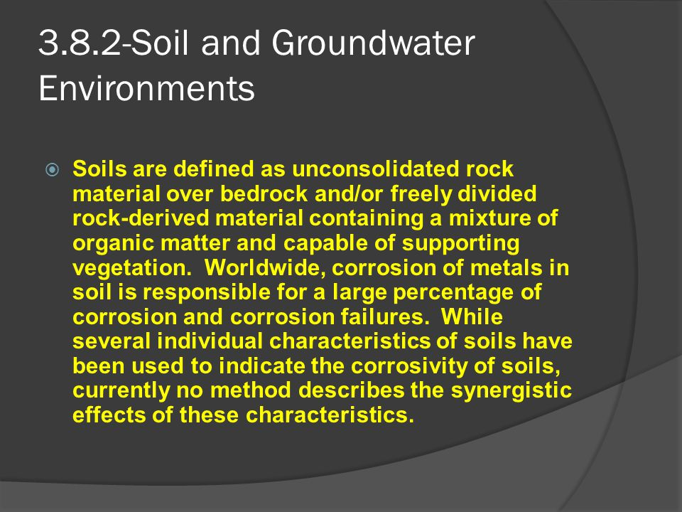 3.8.2-Soil and Groundwater Environments