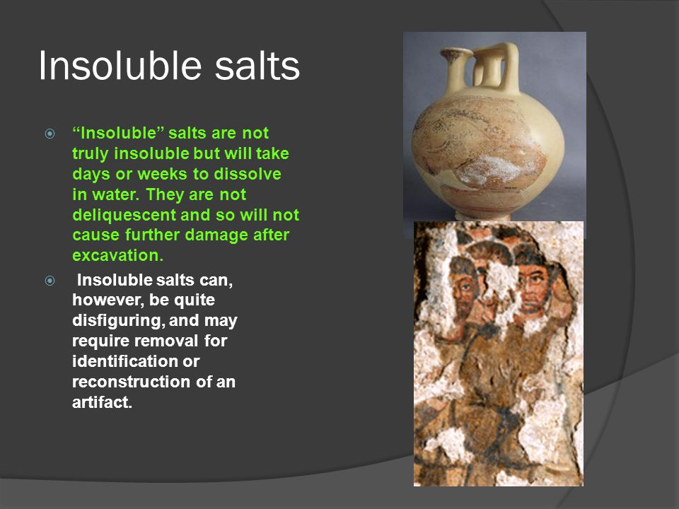 Insoluble salts
