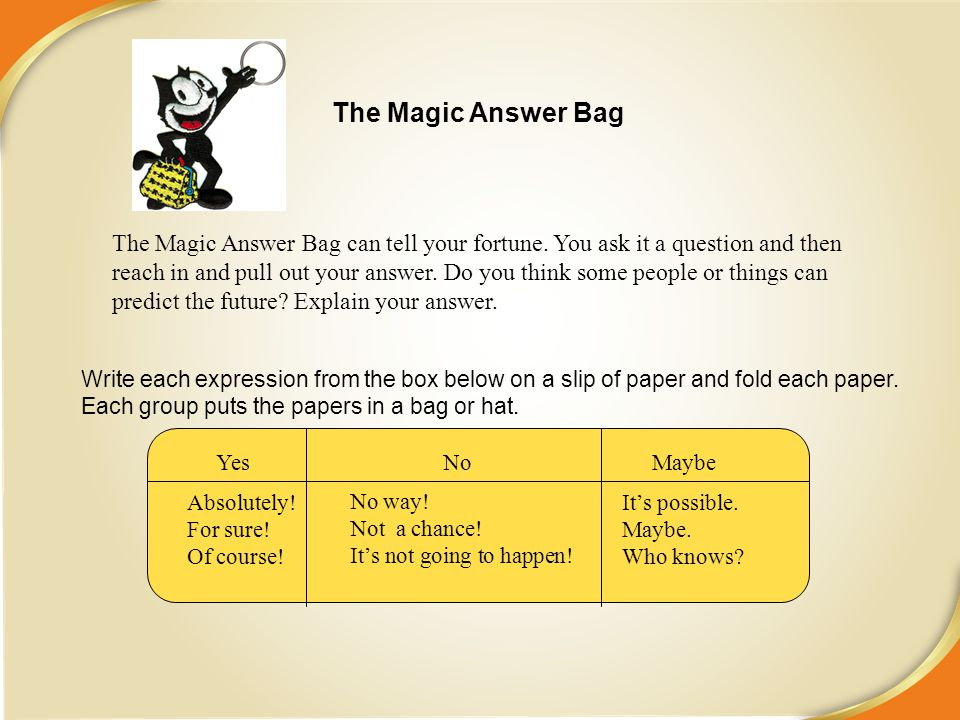 The Magic Answer Bag