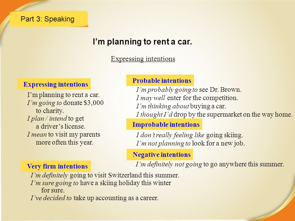 I'm planning to rent a car.