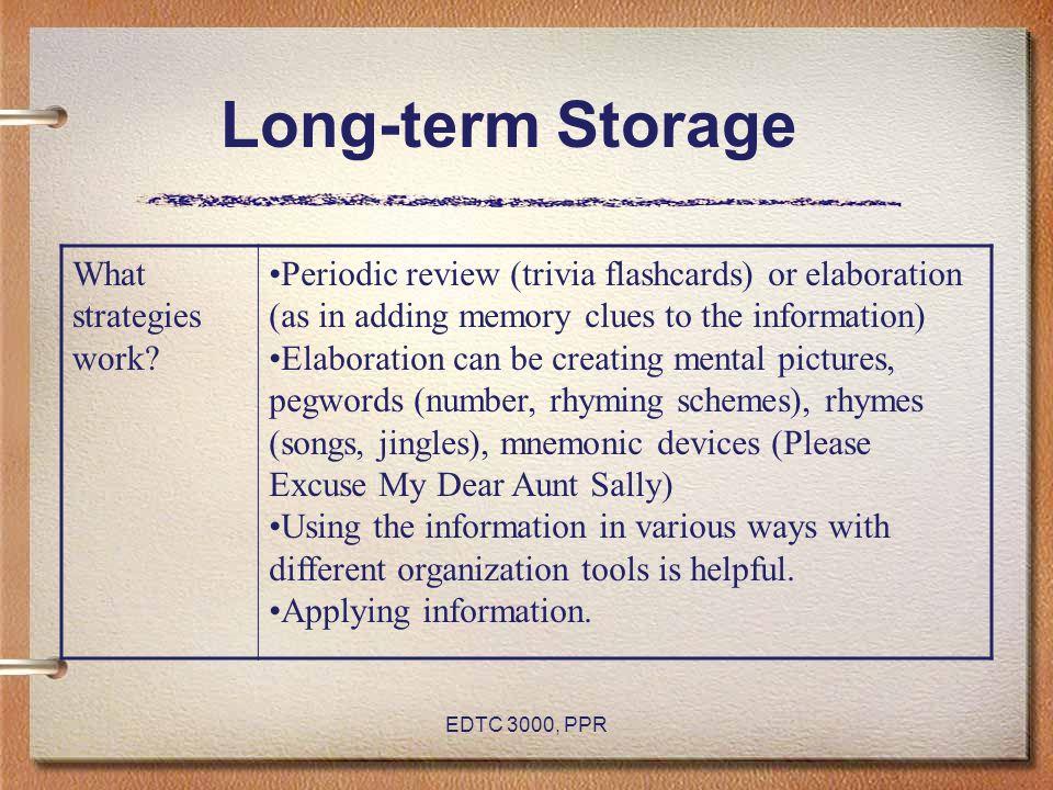 Long-term Storage What strategies work