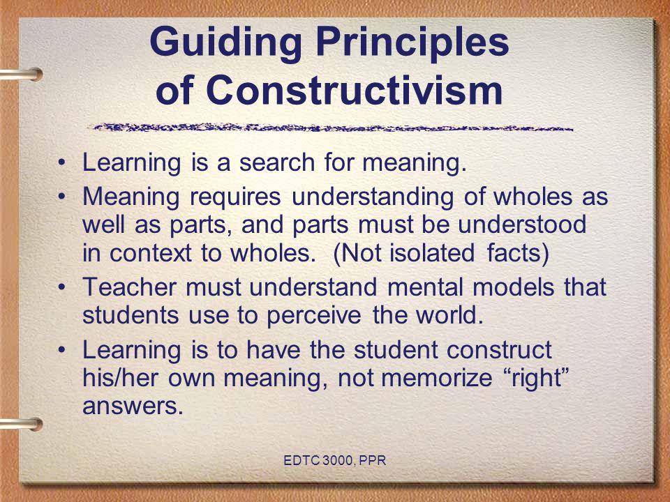 Guiding Principles of Constructivism