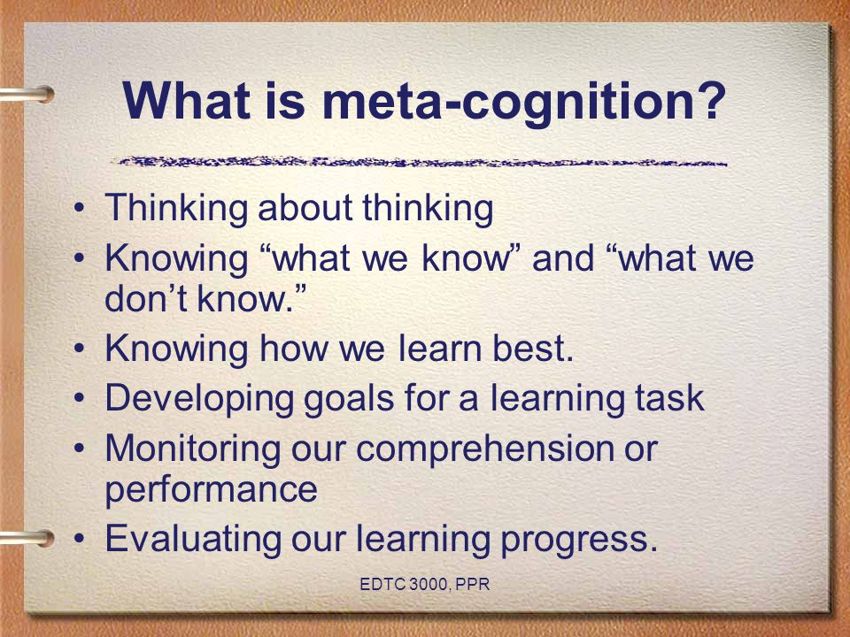 What is meta-cognition