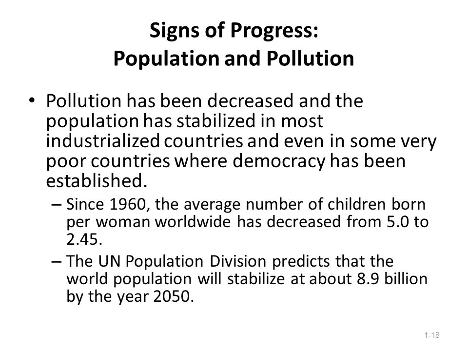 Signs of Progress: Population and Pollution