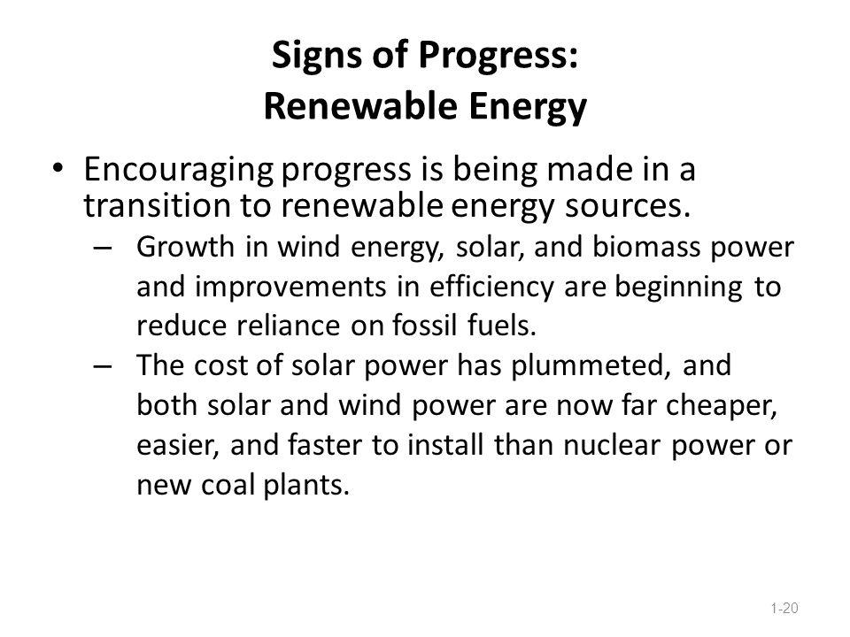 Signs of Progress: Renewable Energy