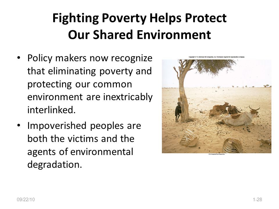 Fighting Poverty Helps Protect Our Shared Environment
