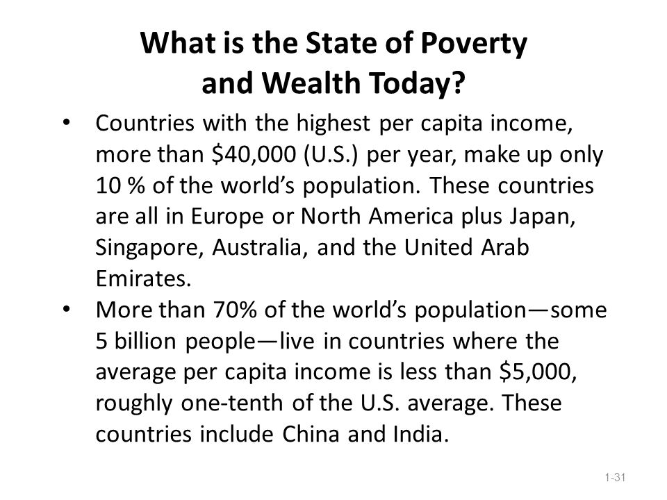 What is the State of Poverty and Wealth Today