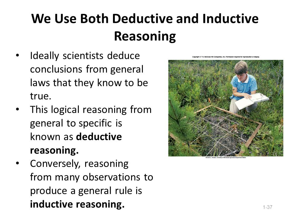 We Use Both Deductive and Inductive Reasoning
