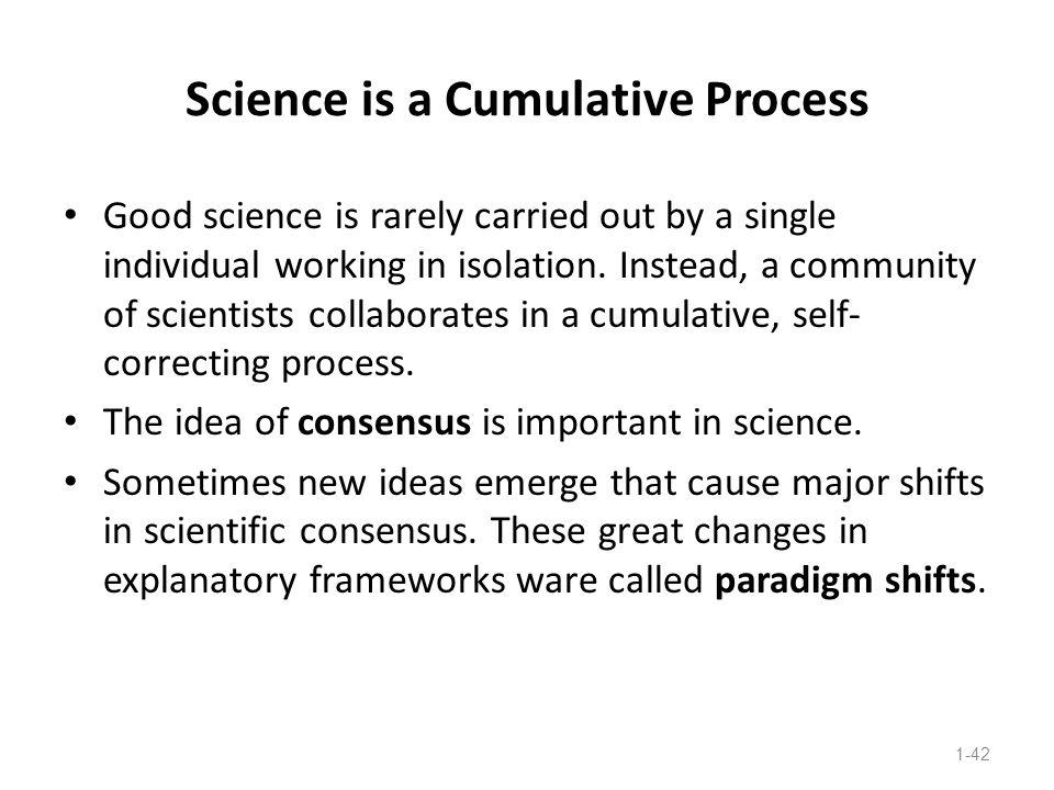 Science is a Cumulative Process