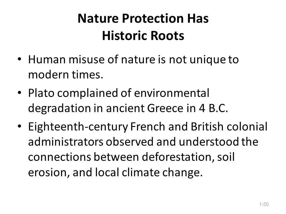 Nature Protection Has Historic Roots