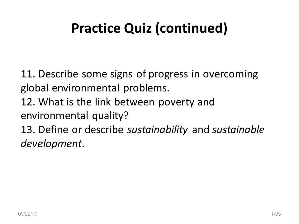 Practice Quiz (continued)