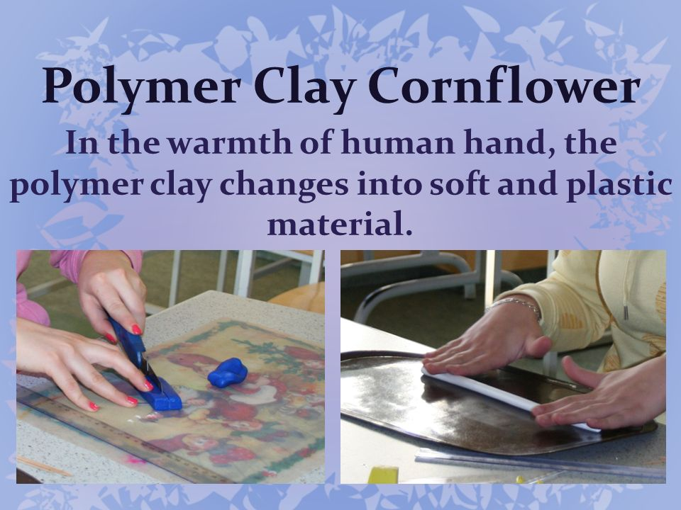 Polymer Clay Cornflower