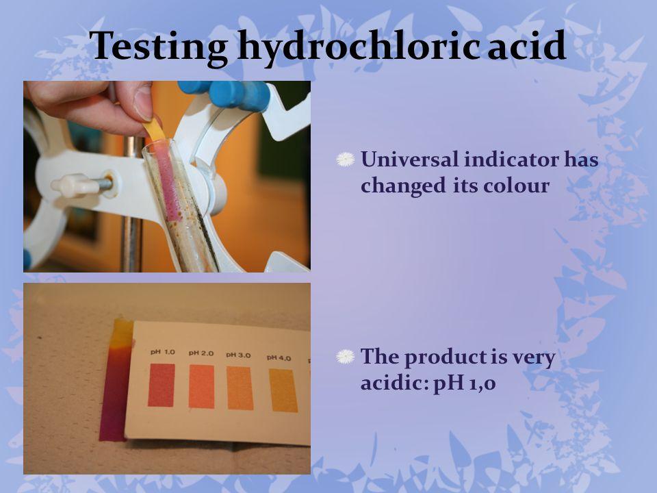 Testing hydrochloric acid