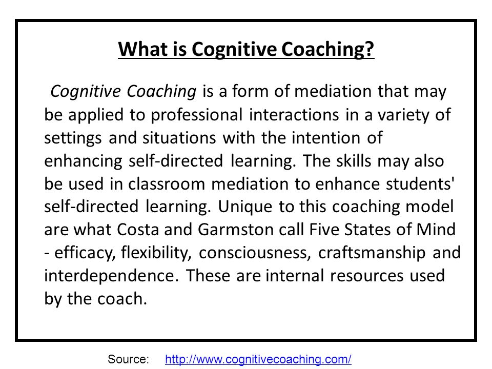 What is Cognitive Coaching