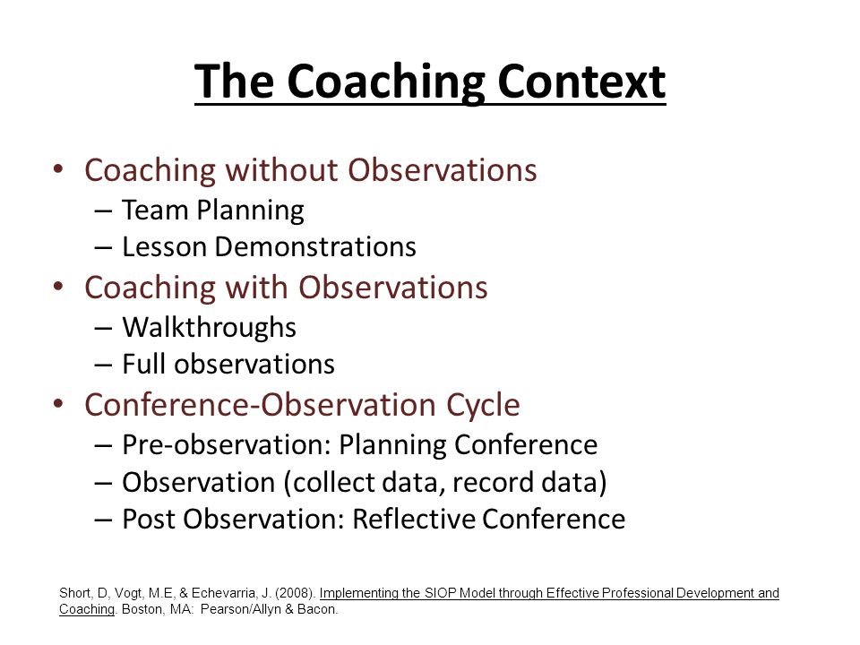 The Coaching Context Coaching without Observations