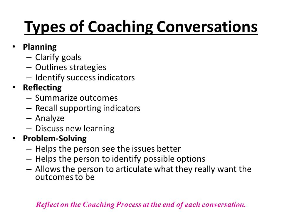 Types of Coaching Conversations