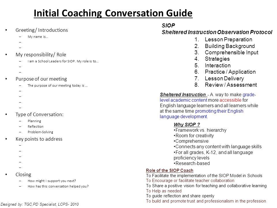 Initial Coaching Conversation Guide