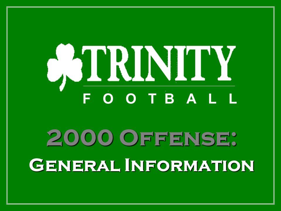 F O O T B A L L 2000 Offense: General Information
