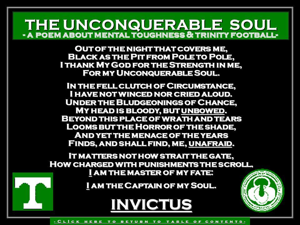 THE UNCONQUERABLE SOUL