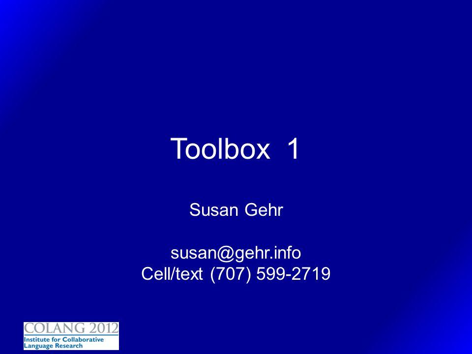 Susan Gehr susan@gehr.info Cell/text (707) 599-2719