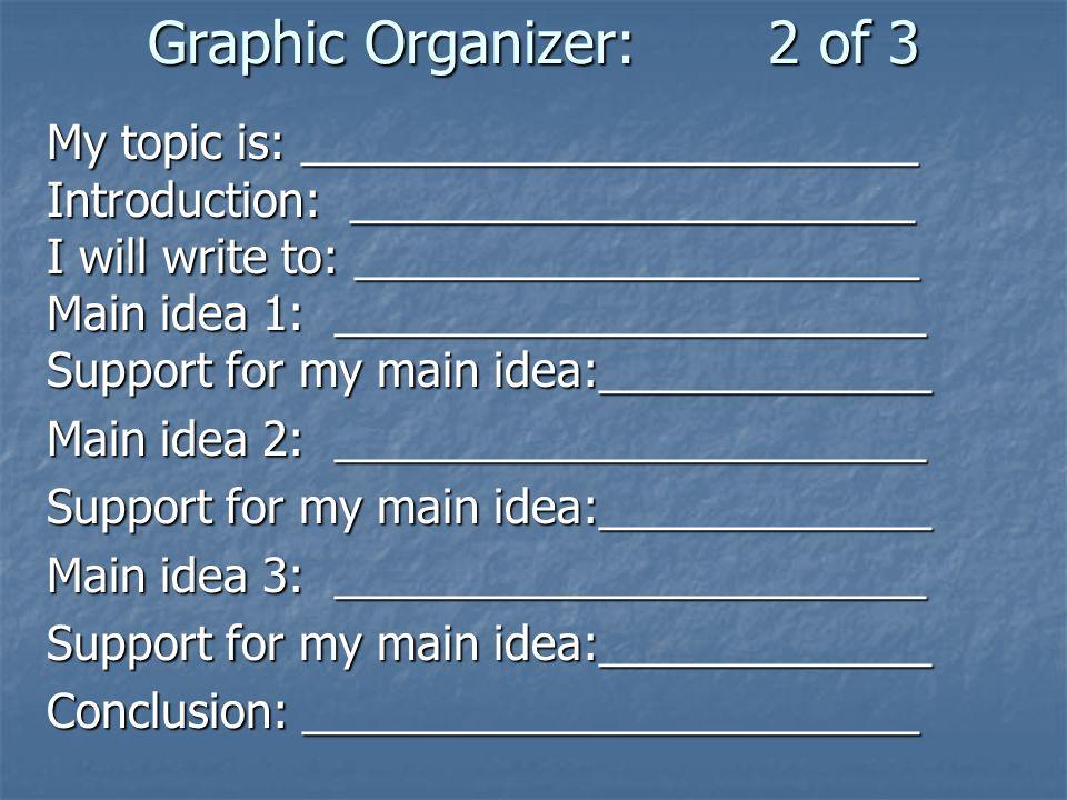 Graphic Organizer: 2 of 3