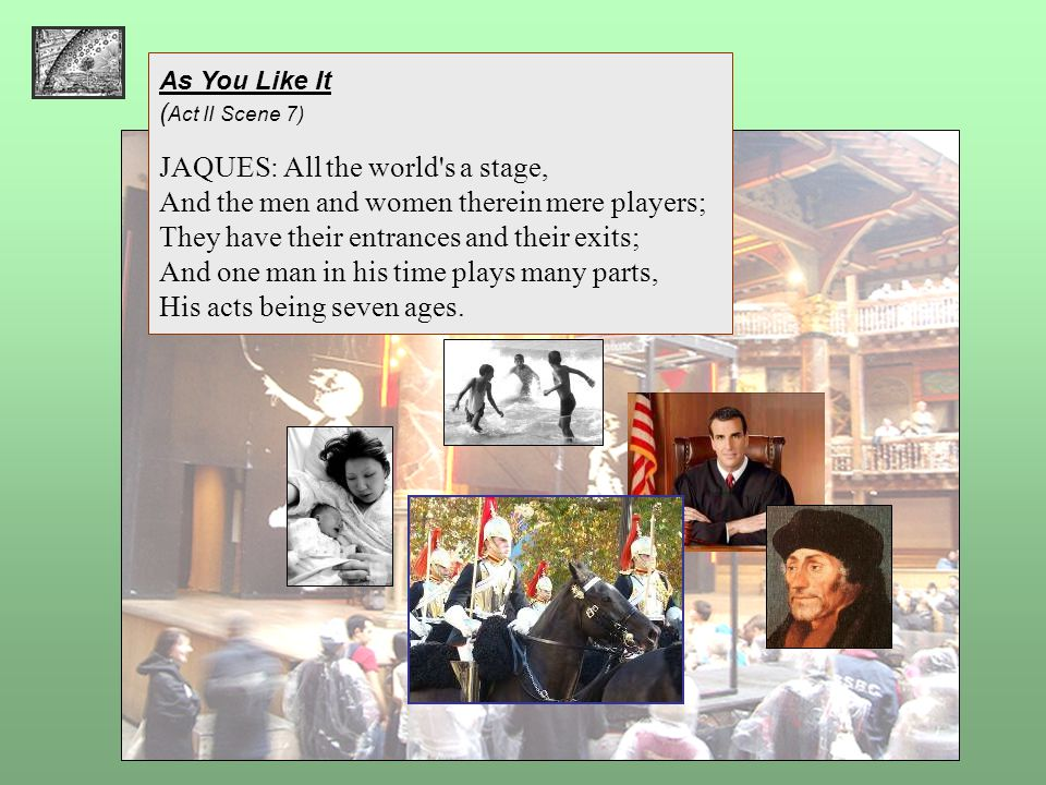 JAQUES: All the world s a stage,