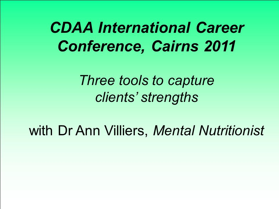 CDAA International Career Conference, Cairns 2011