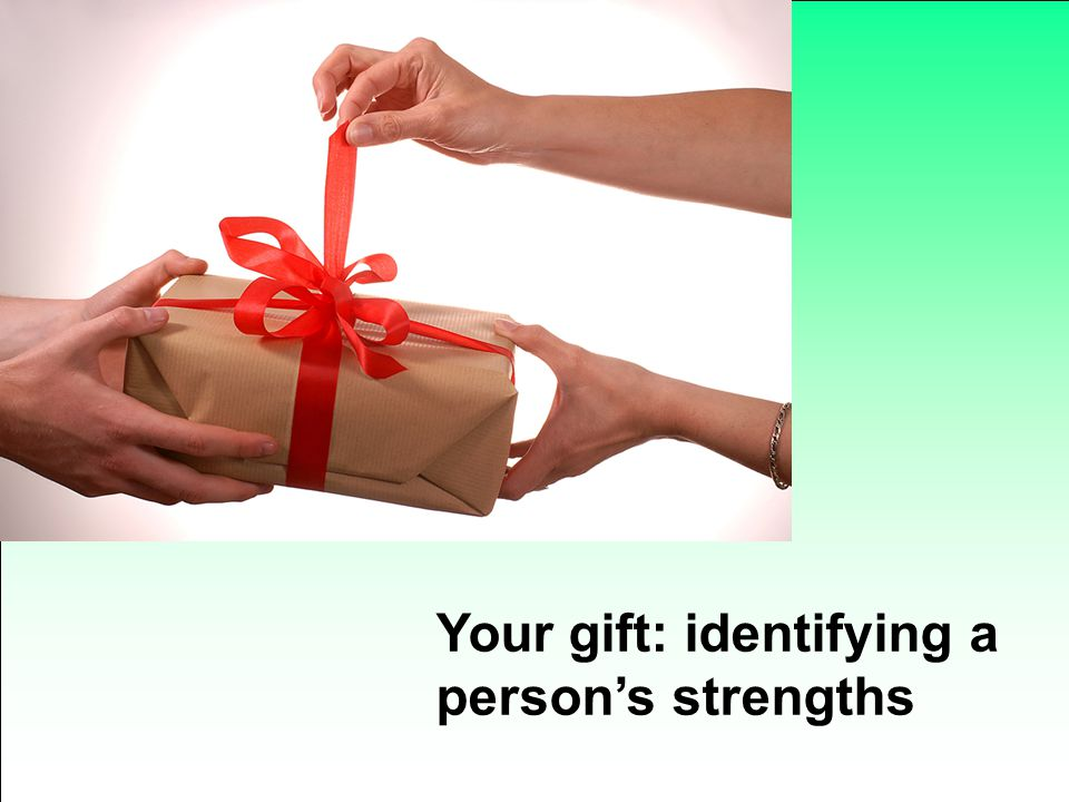 Your gift: identifying a person's strengths