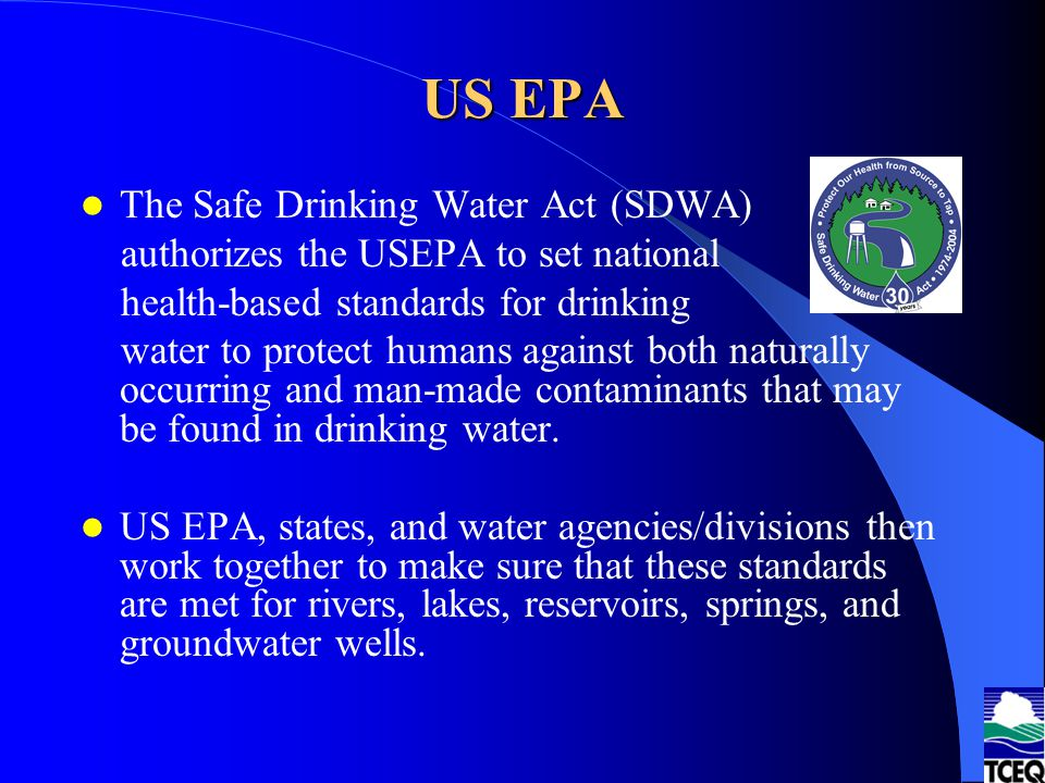 US EPA The Safe Drinking Water Act (SDWA)