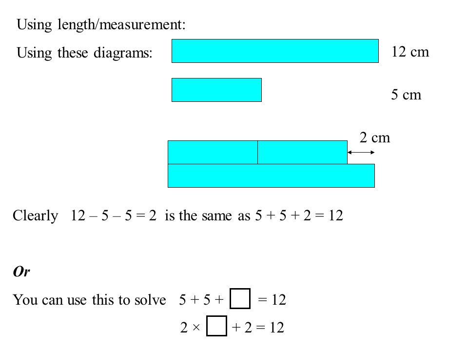 Using length/measurement: