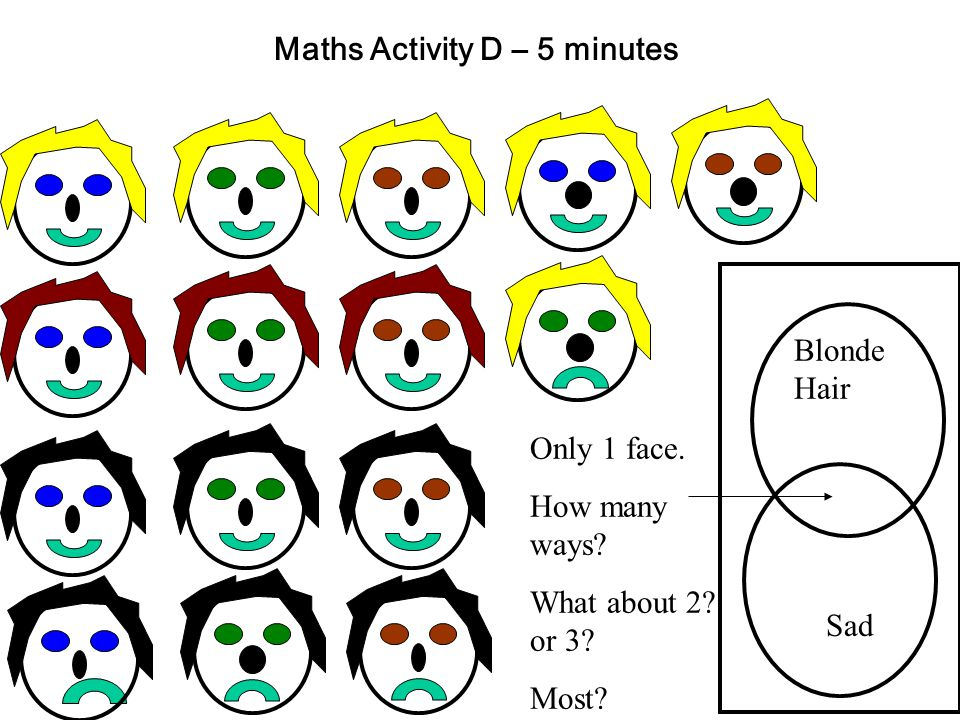 Maths Activity D – 5 minutes