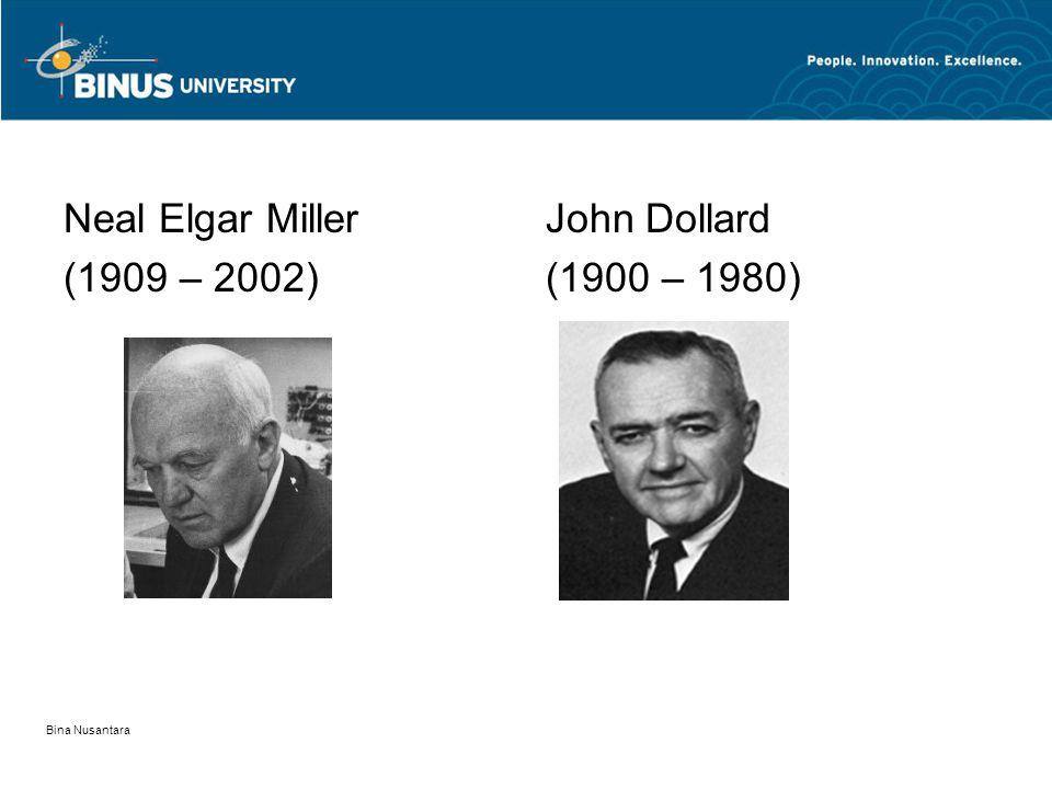 Neal Elgar Miller (1909 – 2002) John Dollard (1900 – 1980)