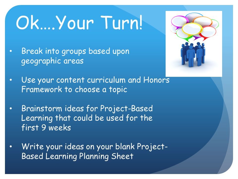 Ok….Your Turn! Break into groups based upon geographic areas