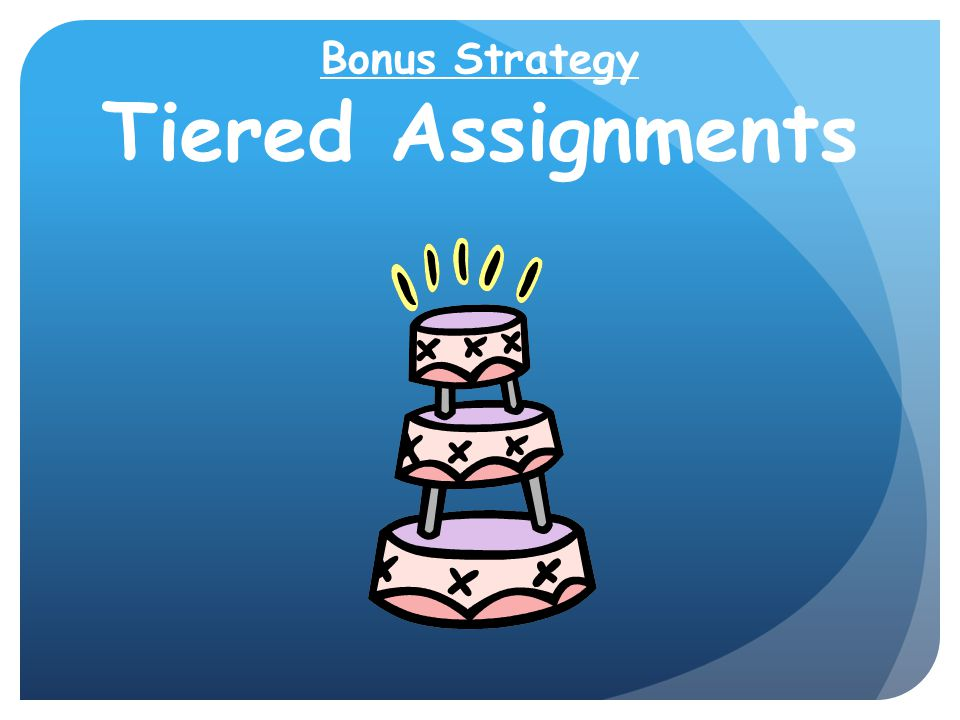 Bonus Strategy Tiered Assignments