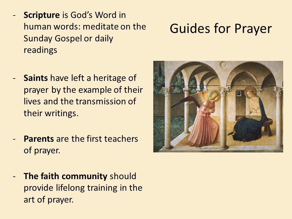 Scripture is God's Word in human words: meditate on the Sunday Gospel or daily readings