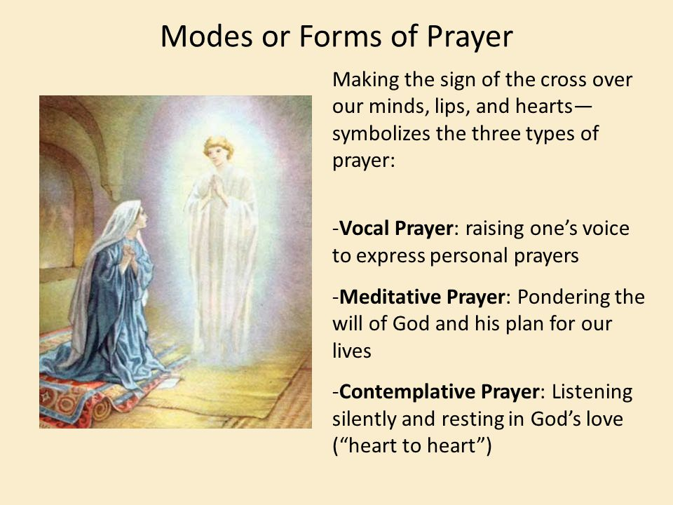 Modes or Forms of Prayer