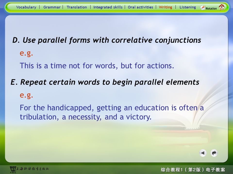 Consolidation Activities- Writing