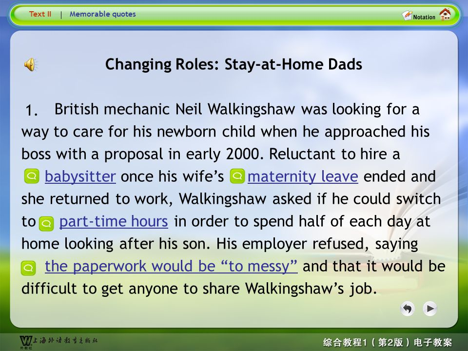 Changing Roles: Stay-at-Home Dads