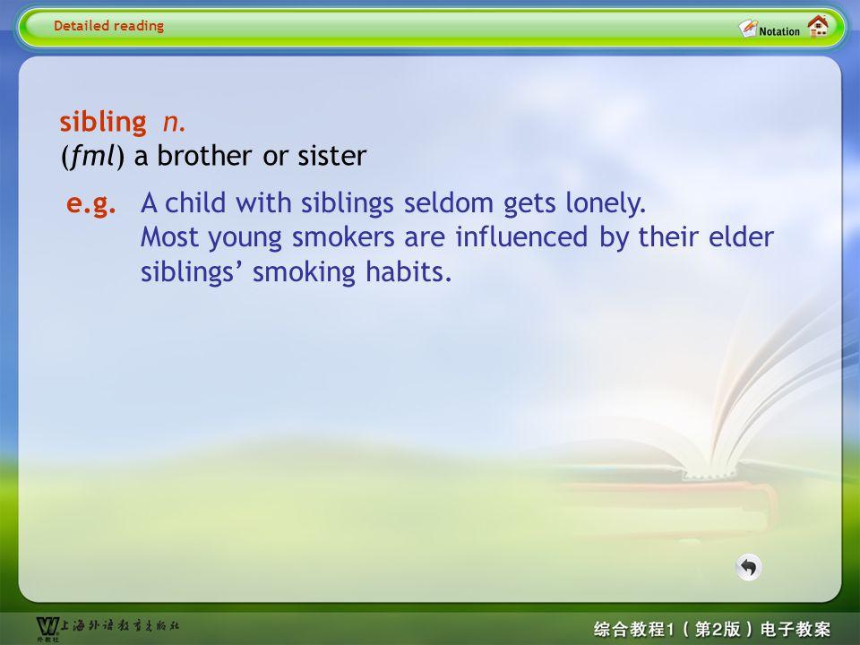 Detailed reading3-- sibling