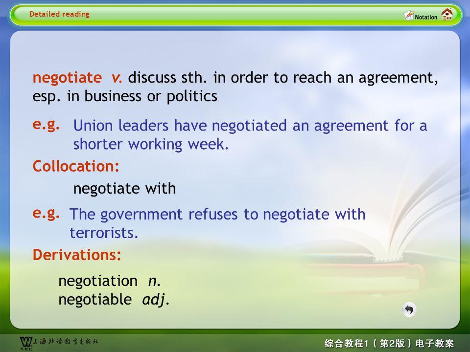 Detailed reading3-- negotiate